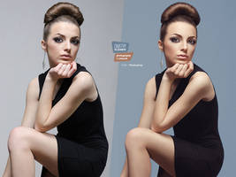 Cornflower #3 (before and after) by DmitryElizarov