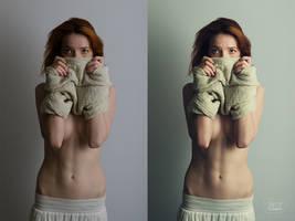 Olesya Kargina #1 (before and after) by DmitryElizarov
