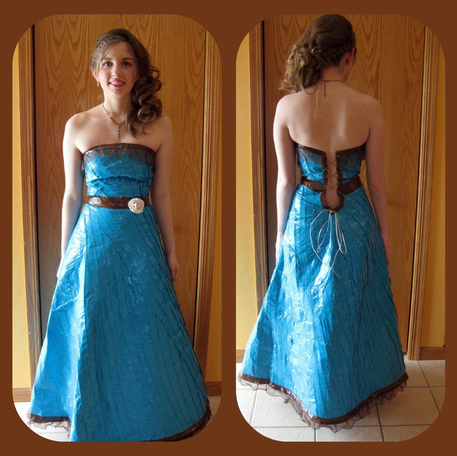 Duct tape prom dress by nalic on DeviantArt