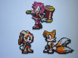 Tails, Amy, and Cream by 8-BitBeadsStudio