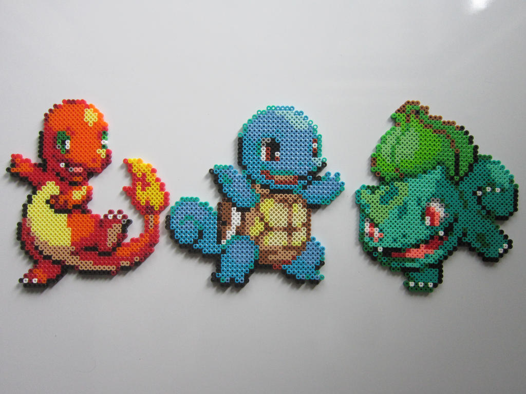 Pokemon Starters No.1 by 8-BitBeadsStudio