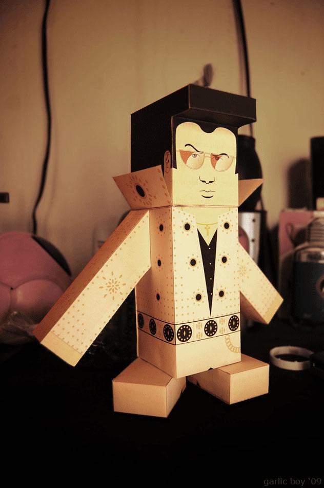 elvis papercraft by zephcrazy