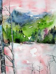 Birch tree in Austria by BlueCaroline