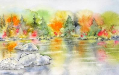 Un flou automne by BlueCaroline