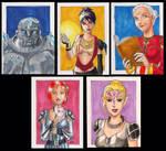 DA:O Sketchcard set 1: girls