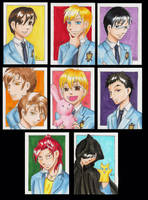 Ouran sketchcard set by bukittyan