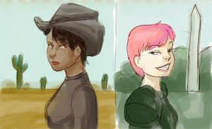 Fallout girls: sketch by bukittyan