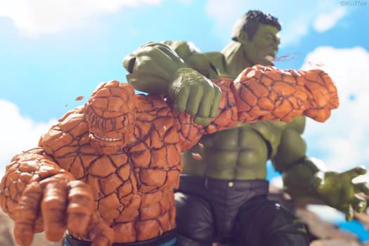 The Thing Versus Hulk Brawling