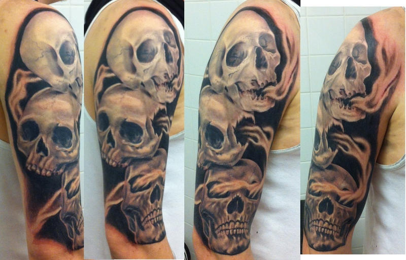 See No Evil Skull Tattoos