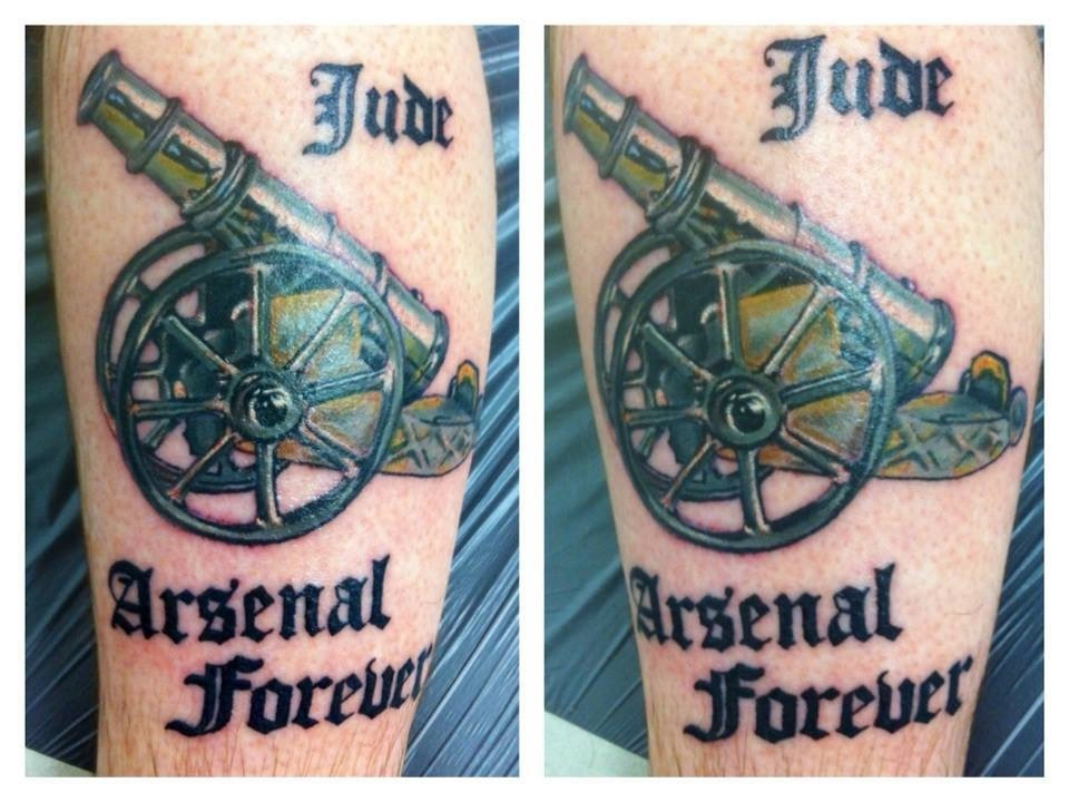 Arsenal Cannon Tattoo Designs