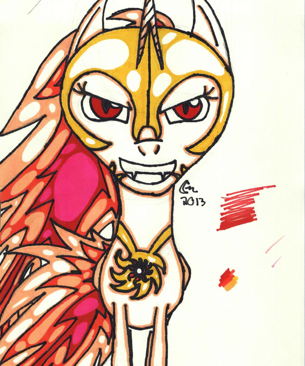 Evil Princess Celestia By CarlyMoon On DeviantArt
