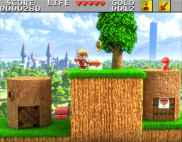 Wonder Boy in monster land 3D by Guile93