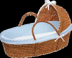 Baby Boy Moses Basket by bubupoodle