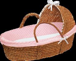 Baby Girl Moses Basket by bubupoodle