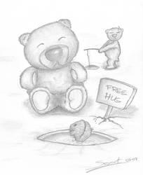 Baby polar bear gives free hug