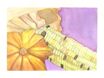 Art class - 4x6 Squash+Corn by yagi-san