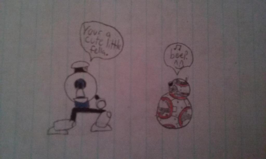 Marbleman meets BB-8 by JSMRACECAR03