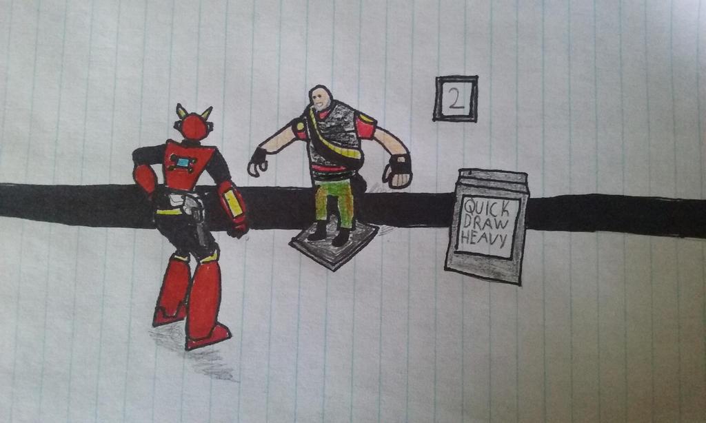 Quickman VS Quick draw heavy by JSMRACECAR03
