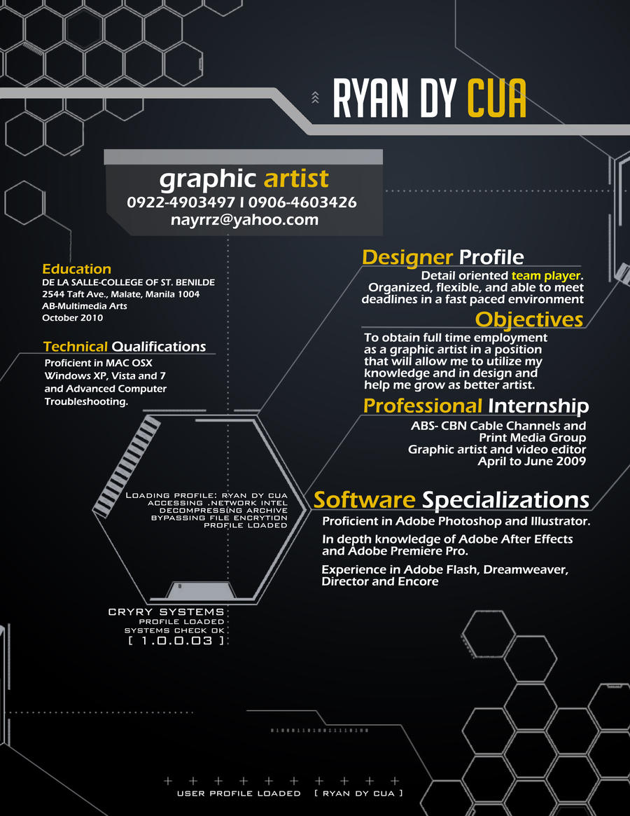resume by sirnayr