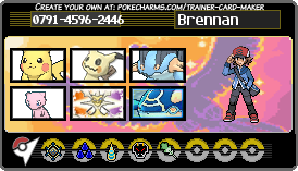 Brennan Trainer Card by Lishanthing