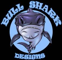 bull shark designs logo