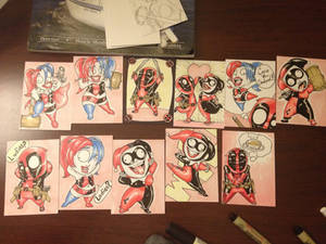 'Lil Harley and 'lil Wade sketch cards