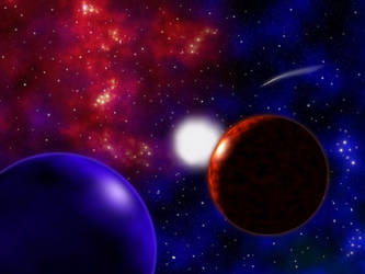 Red Nebula (Version One) by FaerieBert