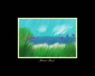 Abstract Beach - Print and Wallpaper Version by FaerieBert
