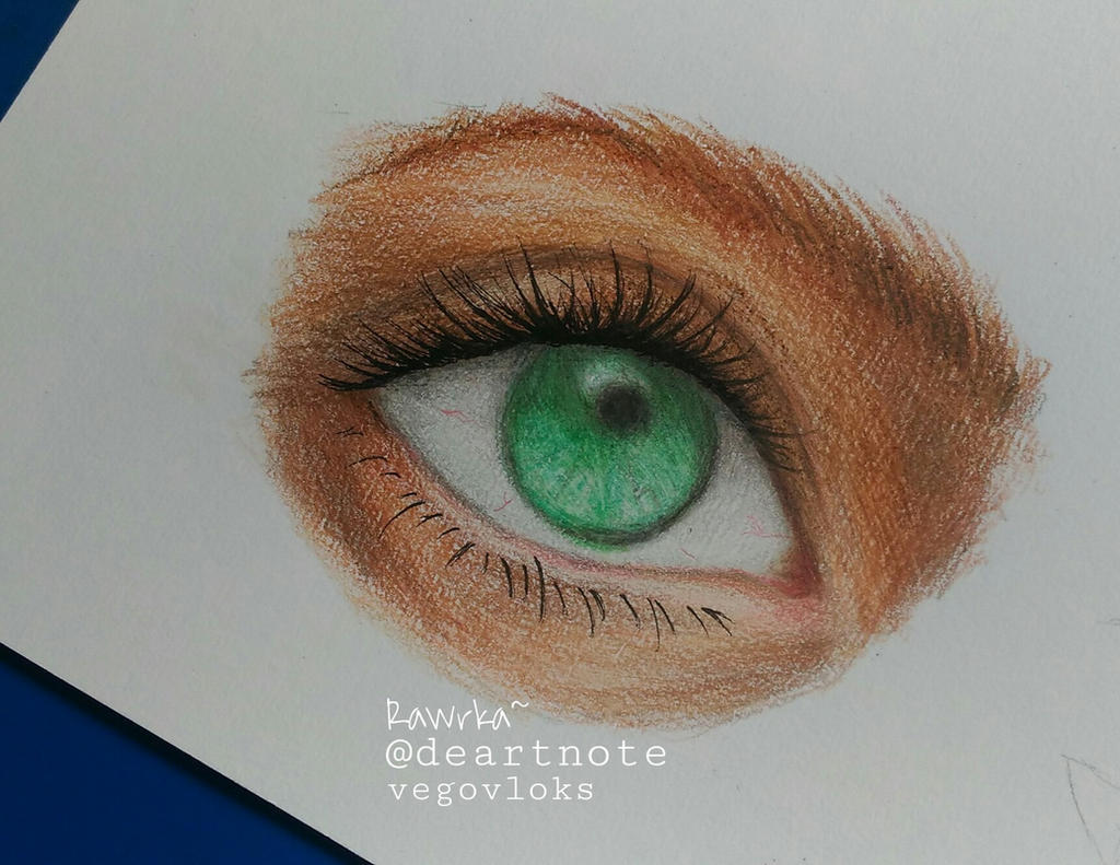 Simple Eye Drawing Colored Pencil by deartnote on DeviantArt