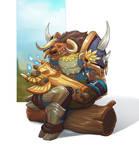Tauren and his totem