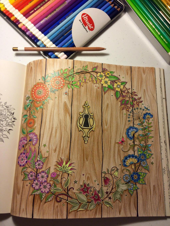 Secret garden coloring book attemp by akajean on deviantart for Garden design ideas book