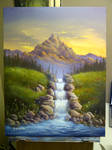 High-Country Waterfall - Lesson Painting