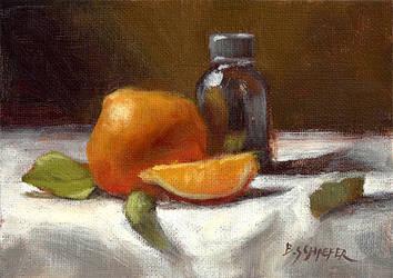 Orange Essence - Still Life by Brandon-Schaefer