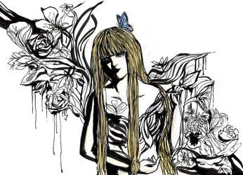 black flowers by Yolko