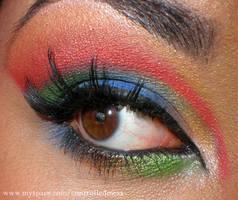 Vejigante Eye Makeup by anilorac186