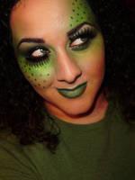 Monochromatic Green Makeup by anilorac186