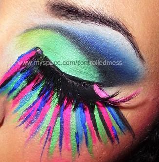 BitchSlap Neon Pigment Closeup by anilorac186