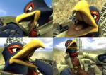 GMod - Macro Falco pretends eating Wolf