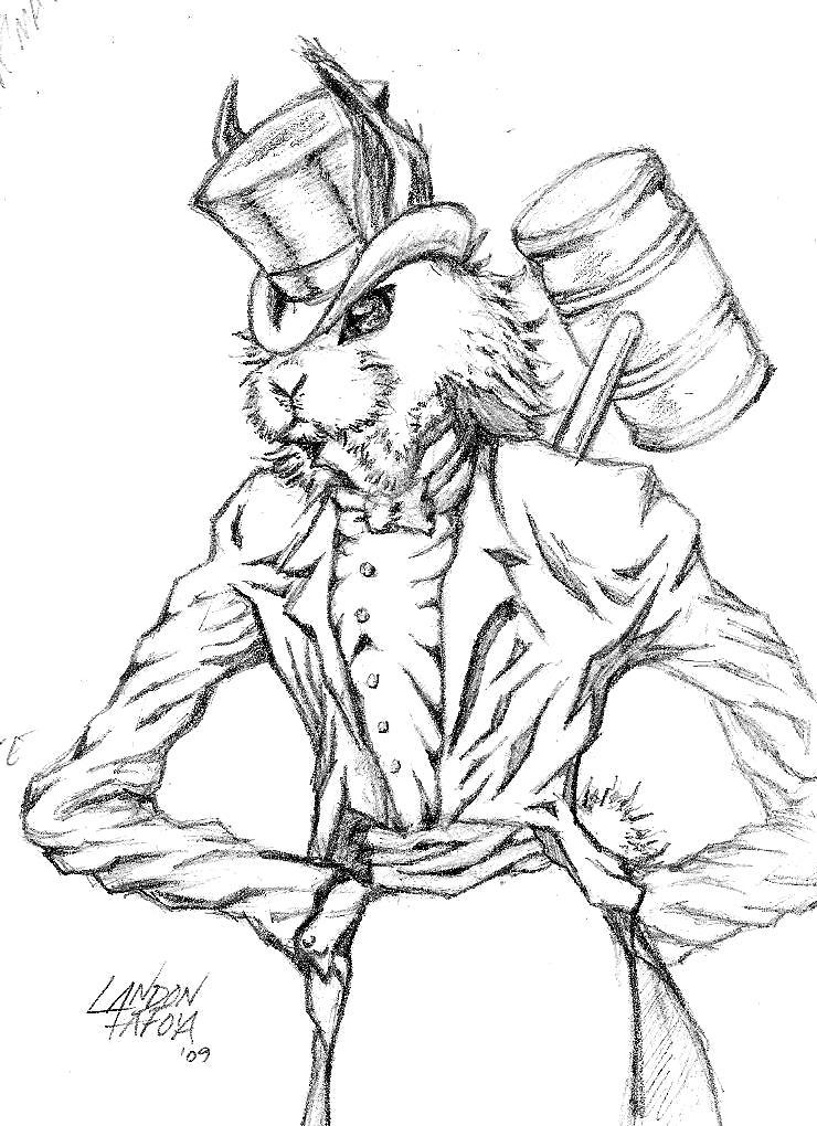 Evil White Rabbit by CorCruentus on DeviantArt - photo#1