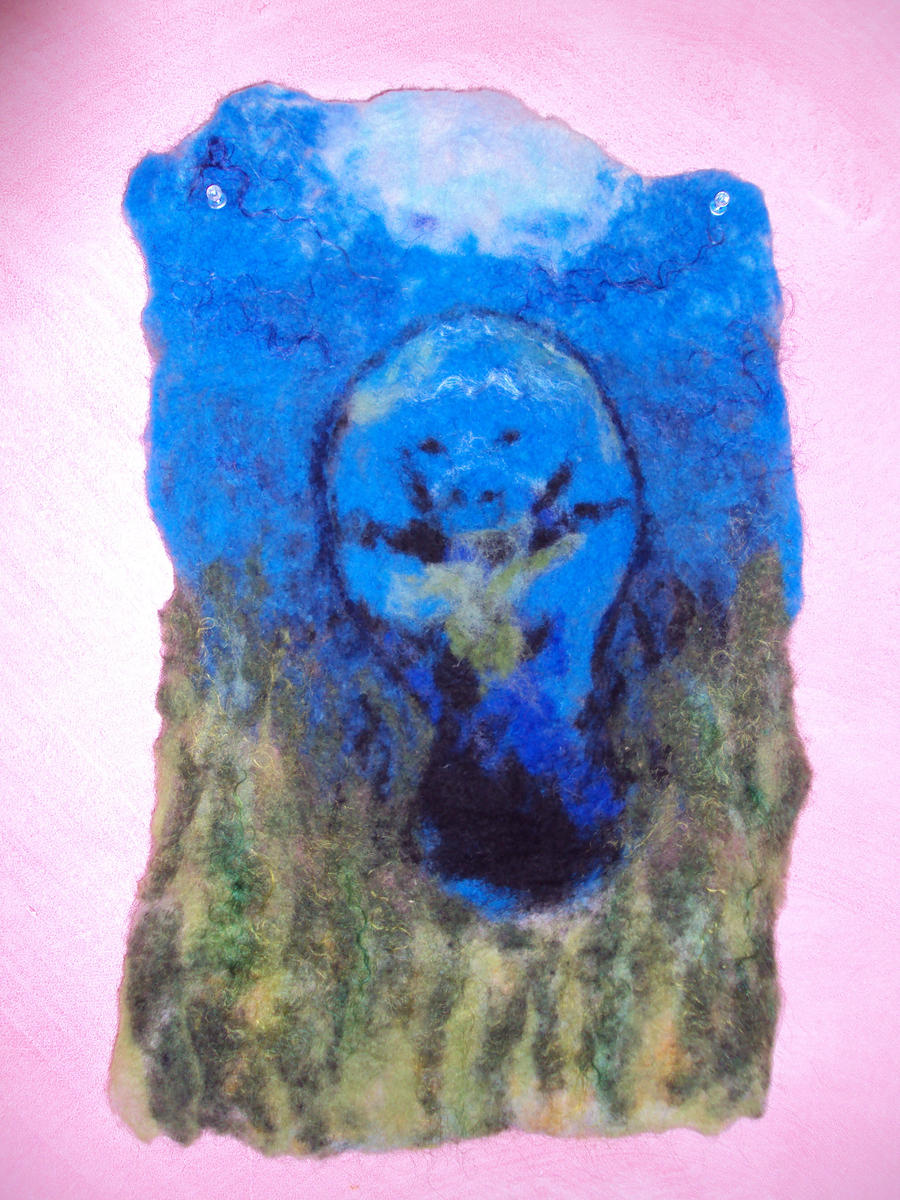 Manatee Felt Painting by SeaPlume