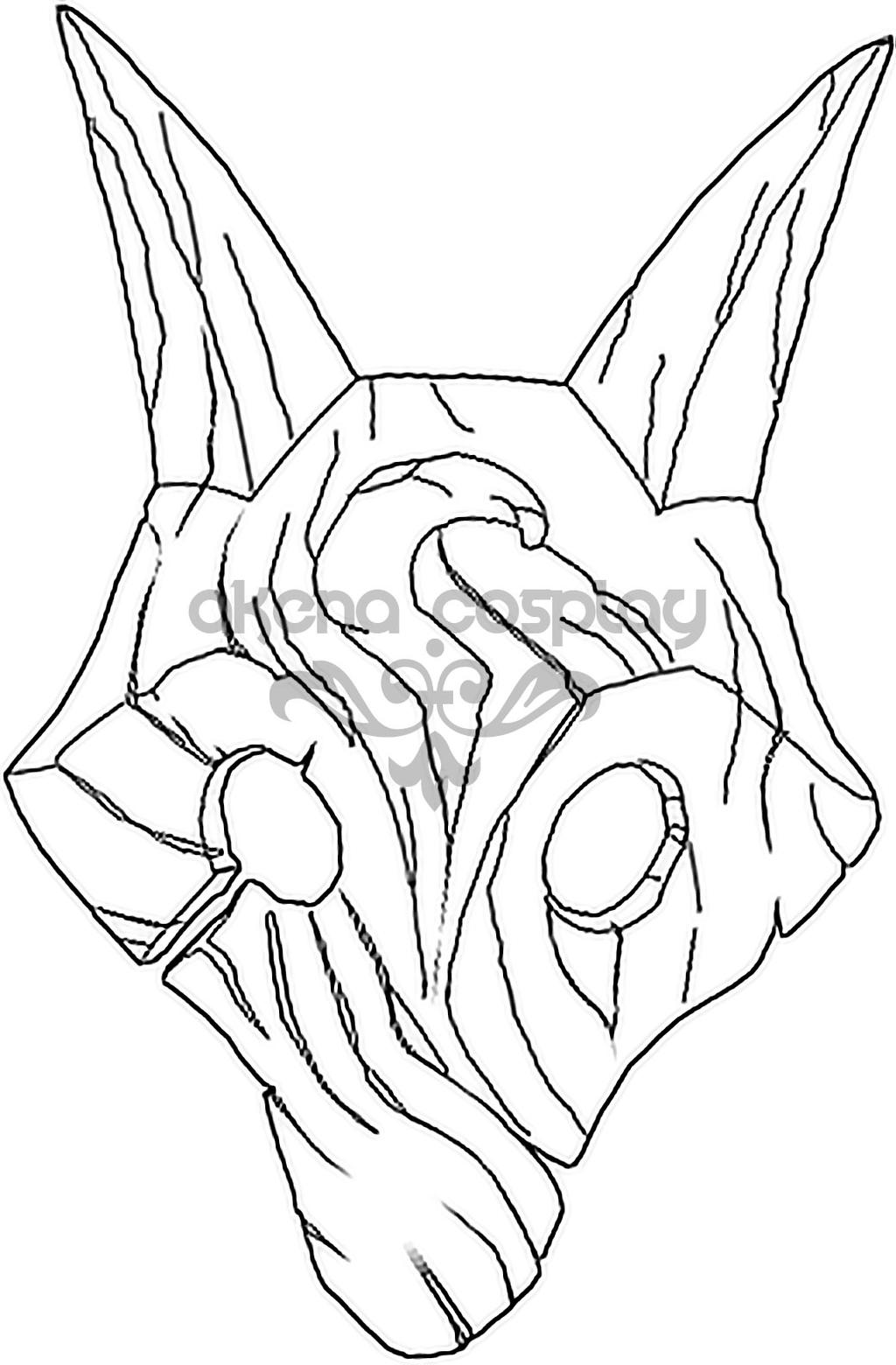 Line Art Templates : Kindred mask template by xxakenaangelxx on deviantart