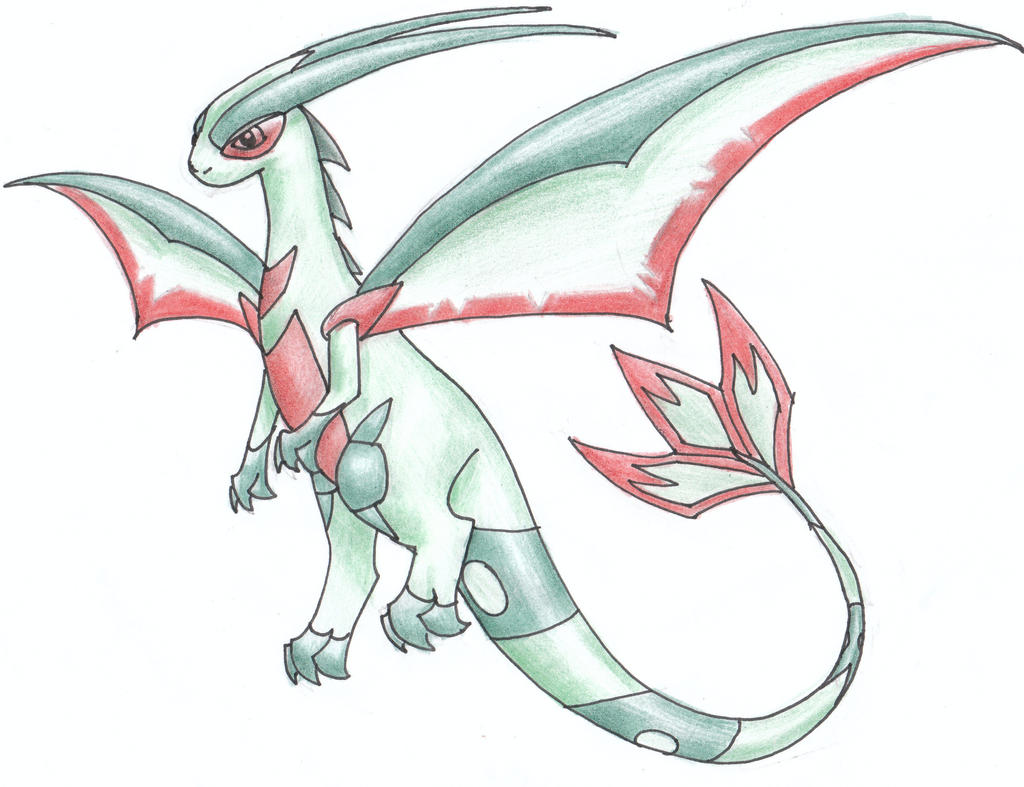 Mega flygon the image kid has it for Flygon coloring pages
