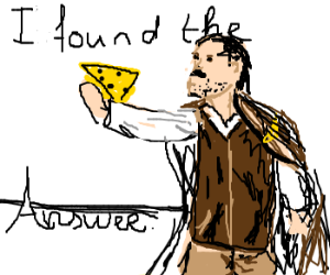 Drawception, Cheese is the answer by xSandra97