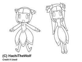 Chibi Cosmos :Lineart: by Hachiz