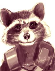 Rocket Raccoon low def sketch