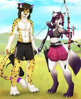 Archery practice by WolfRoxy