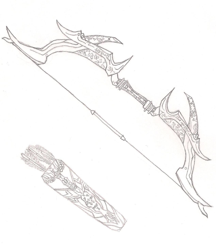 Daedric Bow (Skyrim) By FailedxExperimentx13 On DeviantArt