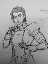 Kuvira doodle by CptCuddles