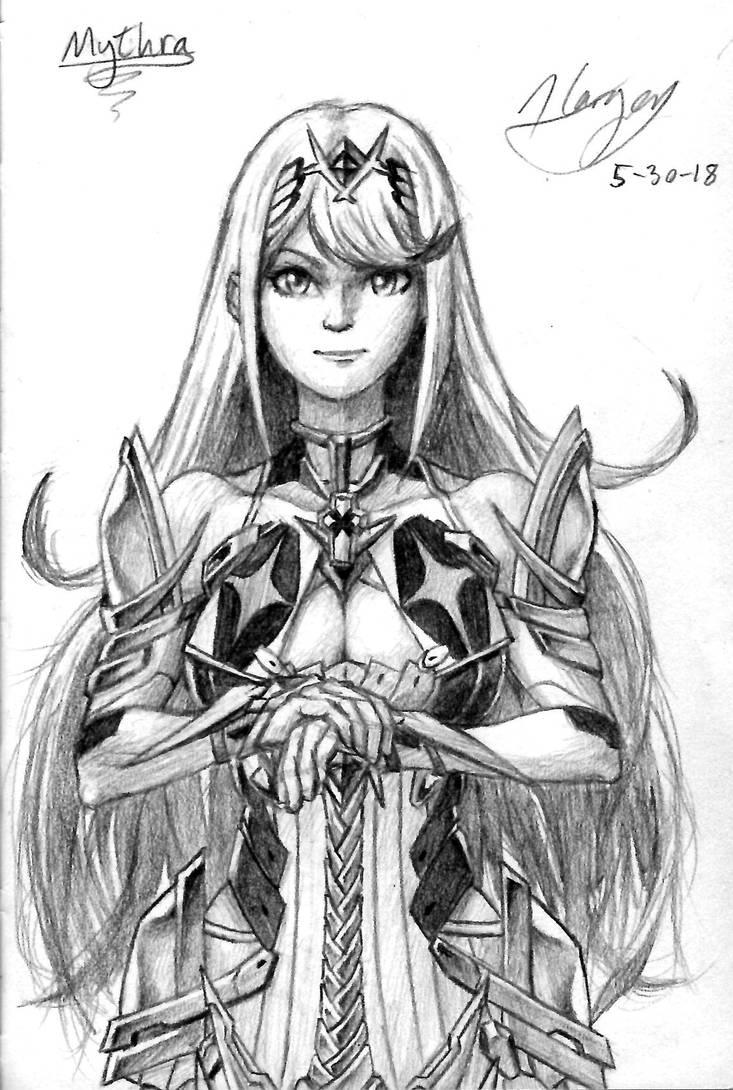 Mythra (Xenoblade 2) by CptCuddles