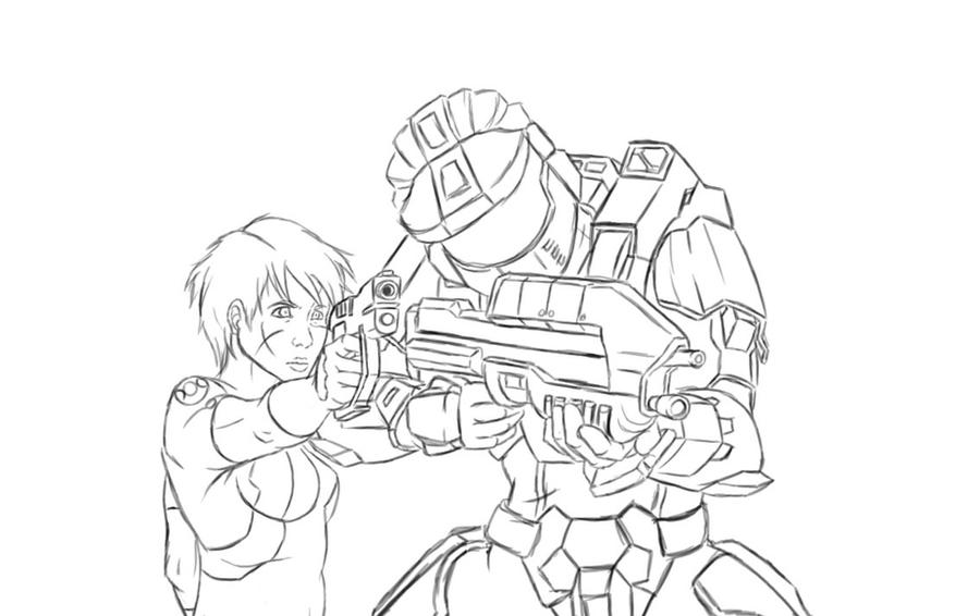 Halo Gold Chronicles sketch by Halo Spartan Sketches